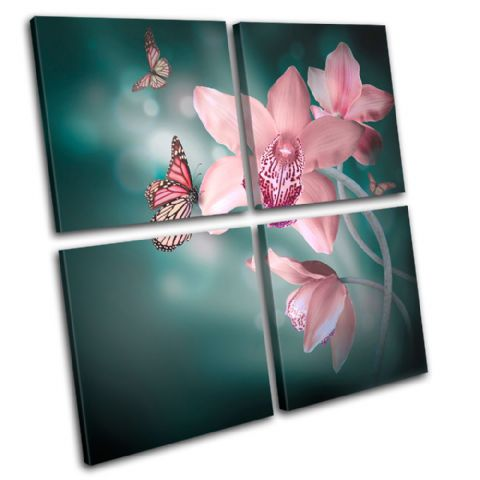 Orchids Butterfly Floral - 13-0643(00B)-MP01-LO
